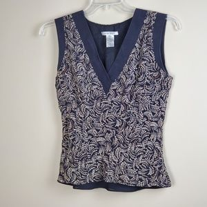 Nine West Sleeveless Multicolored Blouse - Size M